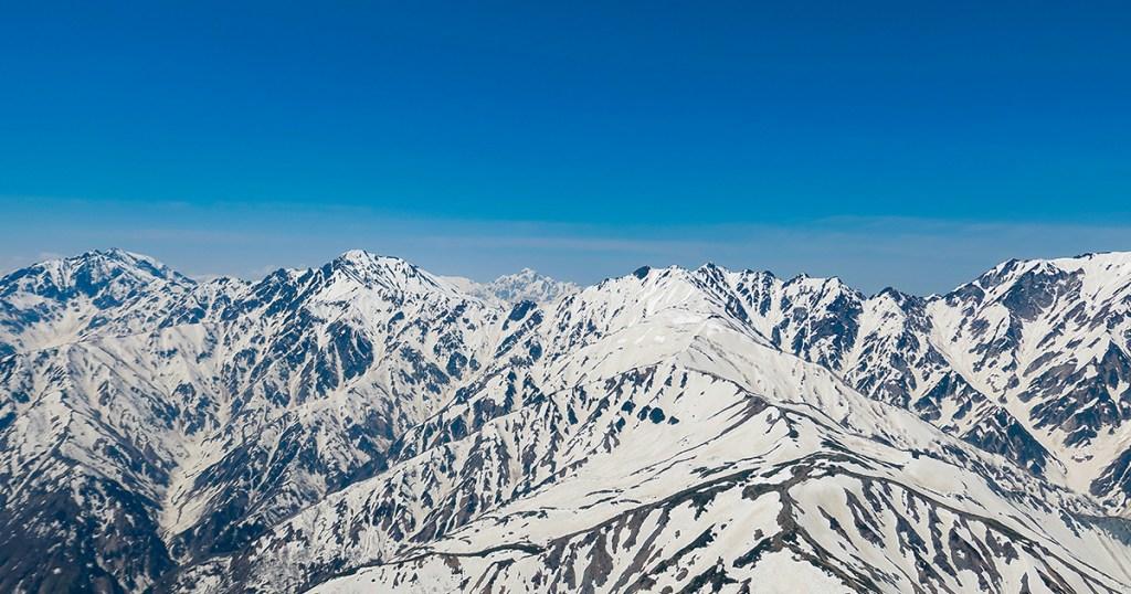 高度2500mからの北アルプス