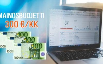 Missä kannattaa mainostaa alle 300 €:n mainosbudjetilla?