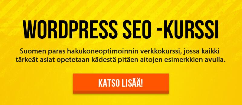 Wordpress SEO -verkkokurssi
