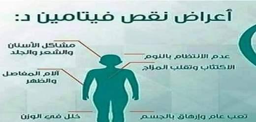 أعراض نقص الفيتامين