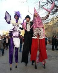 Hala on stilts tall entertainment from Toronto in Hamilton