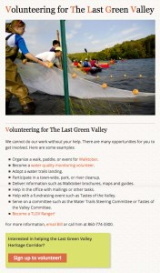 Using Landing Page and Forms to Build a Network of Volunteers