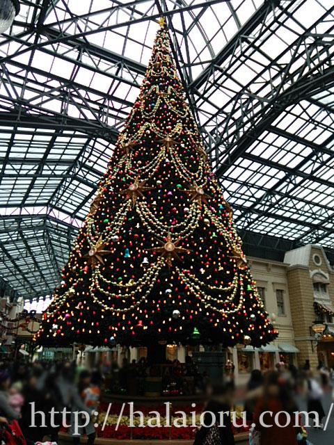 ディズニーランドクリスマスツリー2015