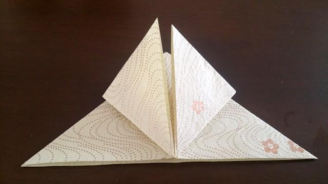ひな祭りの折り紙ぼんぼり編7