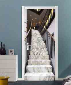 Free shipping Luxury stairs Door Wall Stickers DIY Mural Bedroom Home Decor Poster PVC Waterproof Door Sticker 77x200cm Home, Pets and Appliances