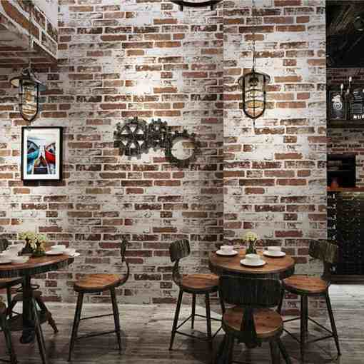3D Imitation Brick Wallpaper Modern Retro Restaurant Cafe Bar PVC Waterproof Vintage Wall Papers Roll For Walls 3 D Home Decor Herbal Products