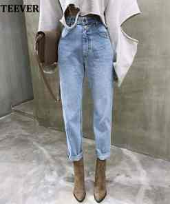 BGTEEVER Vintage High Waist Straight Jeans Pant for Women Streetwear Loose Female Denim Jeans Buttons Zipper Ladies Jeans 2020 Women Women's Clothings Women's Jeans