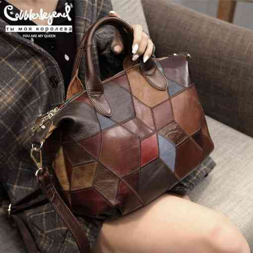 Cobbler Legend 2019 Genuine Leather Shoulder Bag for Women Luxury Handbag Crossbody top-handle bag Women tote Bags Ladies Purse Women Women's Bags