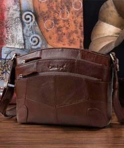 Cobbler Legend Multi Pockets Vintage Genuine Leather Bag Female Small Women Handbags Bags For Women 2019 Shoulder Crossbody Bag Women Women's Bags