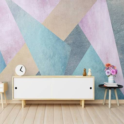 Custom 3D Wall Paper Roll Nordic Simple Abstract Geometric Square Mural Living Room Sofa TV Backgrounds Home Decoration Tapety Herbal Products