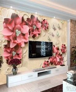 beibehang Custom photo wallpaper 3D fresco, retro jewelry flower living room TV wall papel de parede wall paper wallpaper Herbal Products