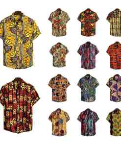 Men Dashiki Loose Blouse Fashion Tee Tops Bazin Riche African India Casual T Shirt Ankara Homme Short Sleeve Print Retro Clothes Herbal Products