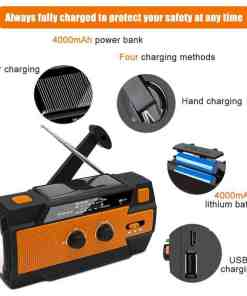 MD-090P Solar Hand Crank Emergency Weather Radio with Motion Sensor Reading Lamp Led Weather Flashlight Hand Crank Luggage & Bags