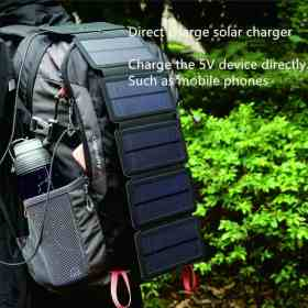 Folding 10W Solar Cells Charger 5V 2.1A USB Output Devices Portable Panels for Smartphones Outdoor Adventure Cellphones & Telecommunications Mobile Phone Accessories Solar Panel Chargers