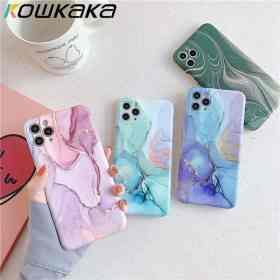 Kowkaka Vintage Marble Phone Case For iPhone 11 Pro Max X XR XS Max 12 Mini 7 8 Plus Luxury Fundas Camera Protection Back Cover Cellphones & Telecommunications iPhone Cases/Covers Mobile Phone Accessories Phone Covers