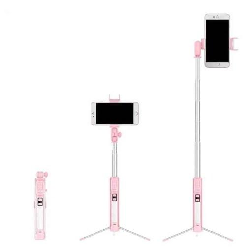 Portable Bluetooth Selfie Stick Tripod Extendable Monopod With Fill Light Wireless Selfie Stick for iPhone Xiaomi Smartphone Cellphones & Telecommunications Mobile Phone Accessories Selfie Sticks