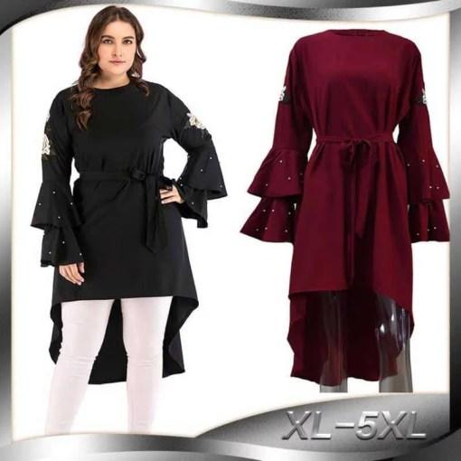 Plus size Adult embroidery muslimah Abayas irregular Trailing Islamic Clothing Female Long-sleeved Arab Shirt Wq1194 dropship Women Women's Abaya Women's Clothings