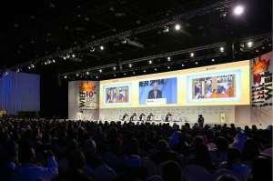 Najib Razak, the Malaysian prime minister, addresses participants of the World Islamic Economic Forum in Dubai. Satish Kumar / The National