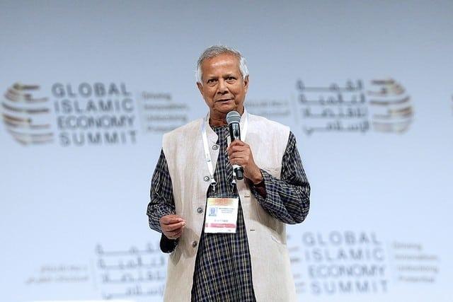 Nobel Peace laureate Muhammad Yunus is regarded as the founder of microfinance. Satish Kumar / The National