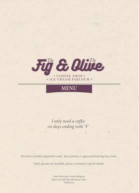 Fig & Olive - Menu 1