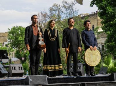 Image 8, 7 May 2016 - Sahar Mohammedi & musicians entertained with sacred Persian songs, her hauntingly beautiful voice keeping alive the traditional Persian Radif music