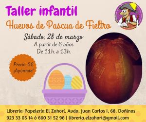 Taller huevos de Pascua en la librería-papelería El Zahorí