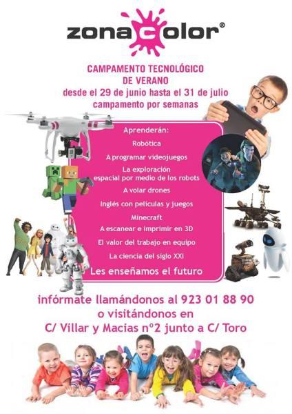 Campamento Tecnológico Zona Color en Salamanca