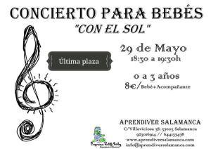 Concierto para bebés en Aprendiver el 29 de mayo