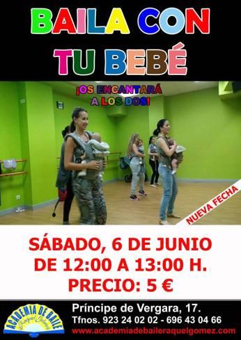 Baila con tu bebé el 6 de junio en la Academia de Raquel Gómez