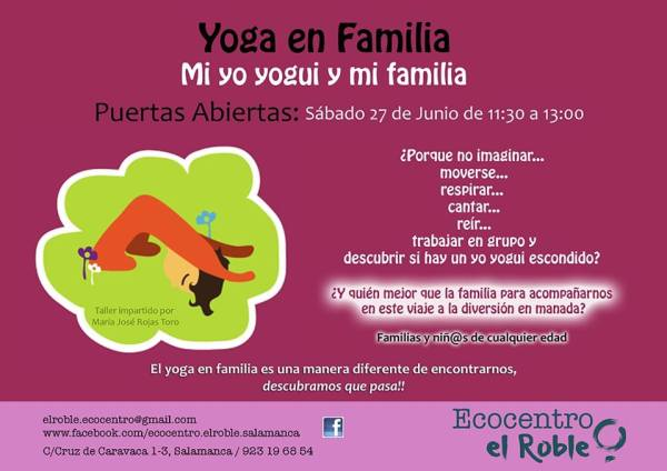 Yoga en Familia Puertas abiertas en Ecocentro