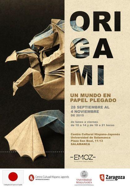 Cartel expo Origami en el CHJ