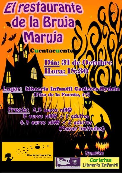 Cuentacuentos El restaurante de la Bruja Maruja en Carletes el 31 de octubre