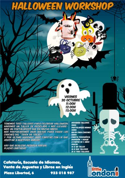 Halloween Workshop en Little London Salamanca el viernes 30 de octubre