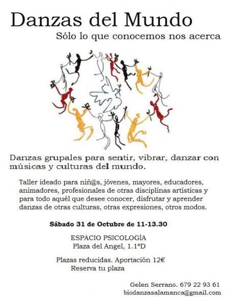 Taller Danzas del Mundo con Gelen el 31 de octubre en Espacio Psicologia Yoga Salamanca