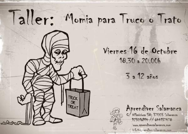 Taller de disfraz de momia en Aprendiver