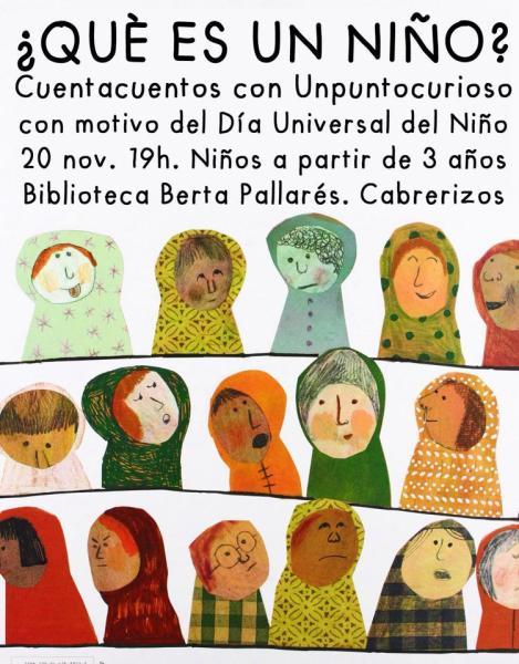 Cuentacuentos de Unpuntocurioso en la biblioteca de Cabrerizos para celebrar el Día del Niño