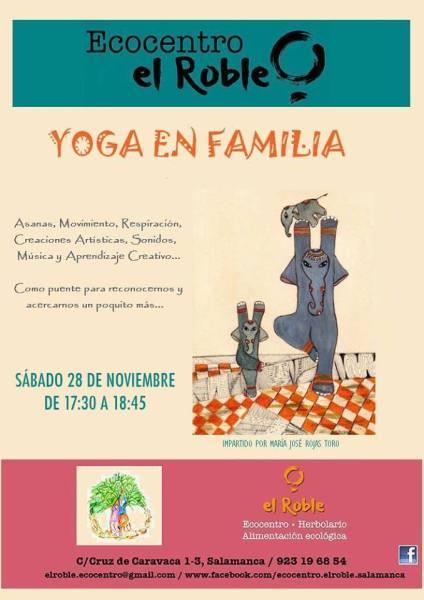 Yoga en Familia en Ecocentro El Roble el 28 de noviembre