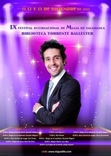 Noveno festival de Magia en la Biblioteca Torrente Ballester de Salamanca