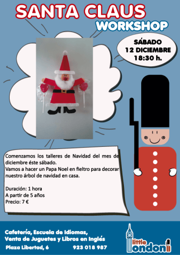 Taller de Papá Noel de fieltro en Little London