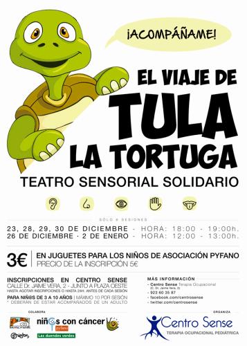 Teatro Sensorial Solidario El Viaje de Tula la Tortuga en Centro Sense