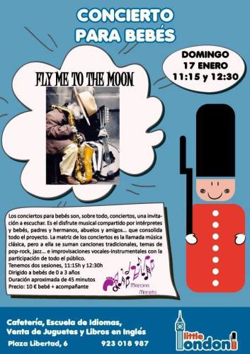"Concierto para bebés ""Fly me to the moon"""