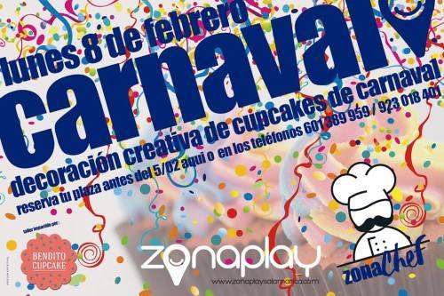 Decoración creativa de cupcakes de Carnaval en Zona Play