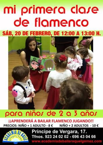 Mi primera clase de flamenco para niños en la Academia de Baile Raquel Gómez de Salamanca