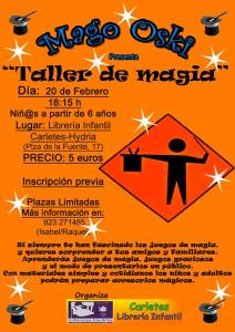 Taller de Magia Infantil con el Mago Oski en la librería Hydria-Carletes