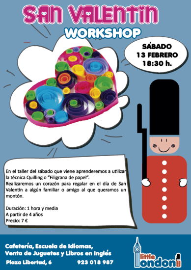 Taller infantil de filigrana de papel en Little London