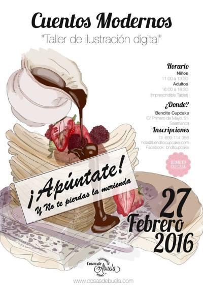 Taller infantil de ilustración digital en Bendito Cupcake