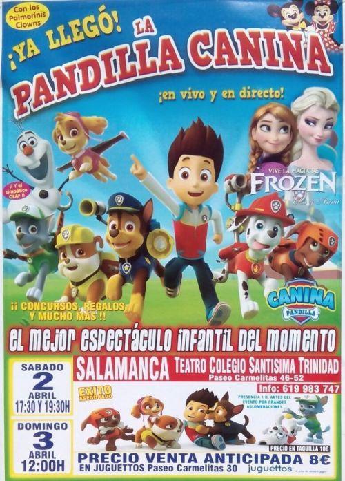 La Patrulla Canina en espectáculo en Salamanca