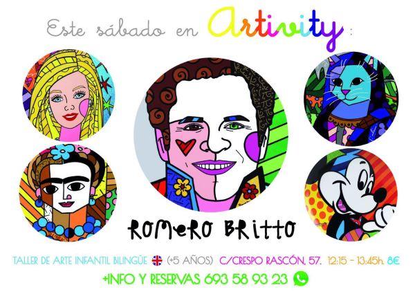 Romero Britto en el Artivity de Paz Samaniego