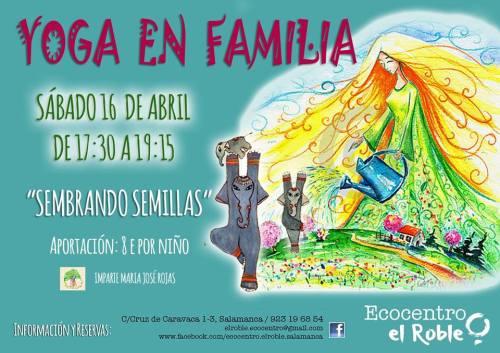 Yoga en familia en Ecocentro El Roble Sembrando Semillas