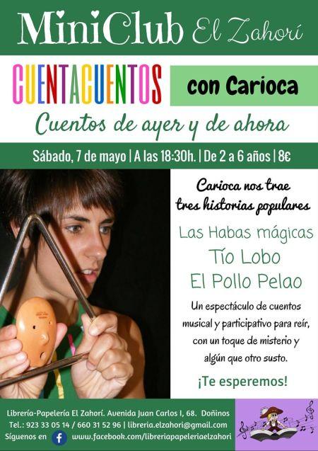 Cuentacuentos con Carioca en la librería El Zahorí de Doñinos